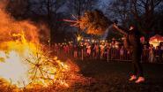 Kerstboomverbranding vervangt nieuwjaarsreceptie