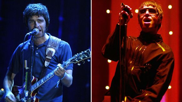 Oasis in 2005: Noel Gallagher (links), foto rechts: Liam Gallagher.
