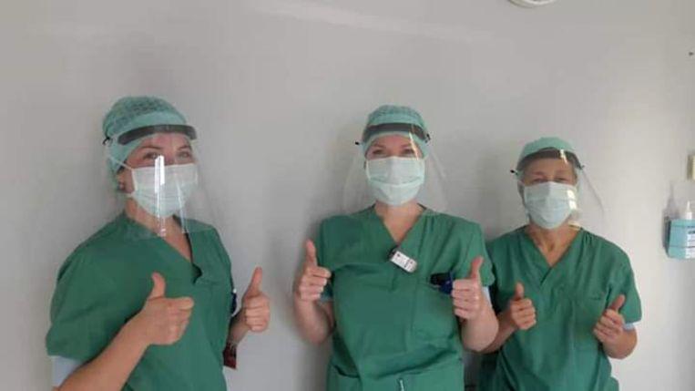 In het AZ Delta in Menen worden de gezichtsmaskers alvast goed gebruikt.