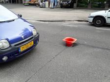 Gat in Heezerweg in Eindhoven door hitte