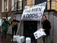 Drie Wageningse studenten vragen met protest aandacht voor huisvesting