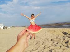 Zomerfoto's: watermeloen werkt verkoelend, ook als rokje