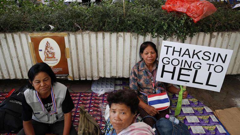 Anti-regeringsactivisten in Bangkok.