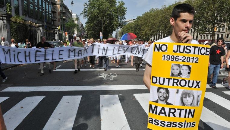 De vrijlating van de vrouw van Dutroux leidde vorig jaar wel tot grote protesten in België Beeld ANP