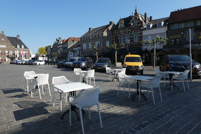 Komt de hele Markt in Boxtel vol met terrassen van de horeca te staan?