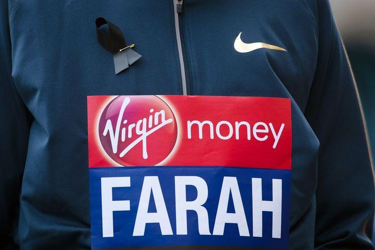 Mo Farah, gouden medaillewinnaar van de Olympische Spelen, loopt zondag in Londen om geld in te zamelen voor de slachtoffers van de marathon van Boston. Beeld epa