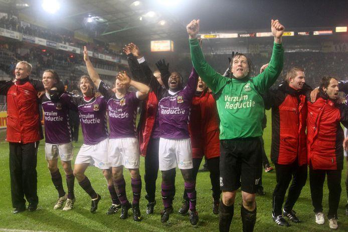 GA Eagles viert de bekerwinst in Breda van 2010.