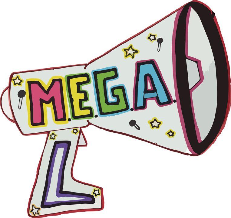 Het winnende ontwerp van Zita: een MEGAfoon.