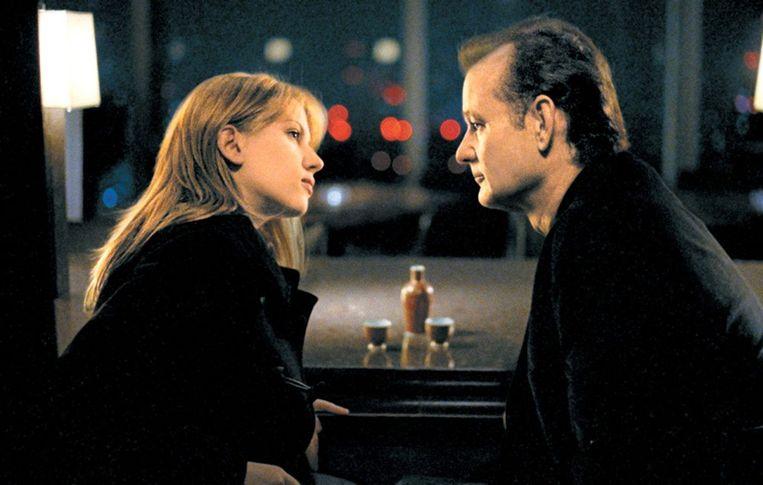 Scarlet Johansson en Bill Murray in Lost in Translation van Sofia Coppola. Beeld