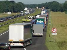 Ongelukken op A1 zorgen voor fileleed