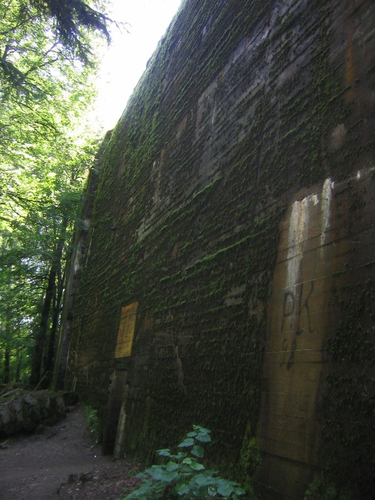 De vervallen bunker van de Wolfsschanze.