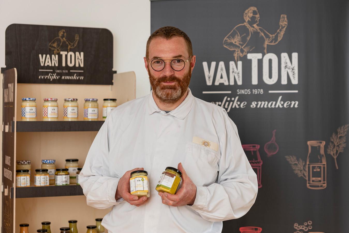 Harrie Konings van Van Ton, dat zo'n veertig sauzen op de markt heeft.