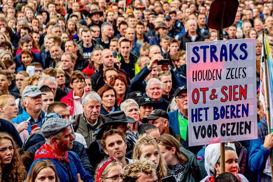 Boerenprotest in Den Haag.