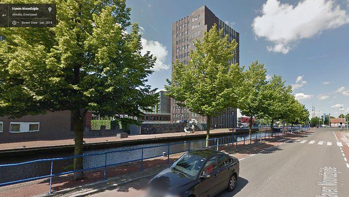 De straat waar de intocht in Almelo heeft plaatsgevnoden