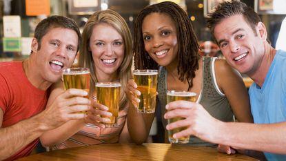 Nog eentje: (beetje) alcohol scherpt het brein