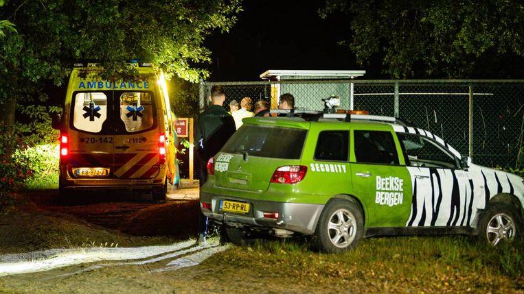 Ambulance en beveiliging op de plek waar de steekpartij plaatsvond. Beeld Jack Brekelmans/SQ Vision