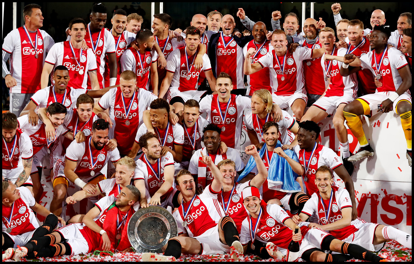 Ajax veroverde vorig seizoen de titel.