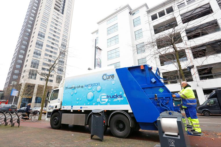 Waterstofvuilniswagen in Eindhoven. Beeld E-trucks Europa