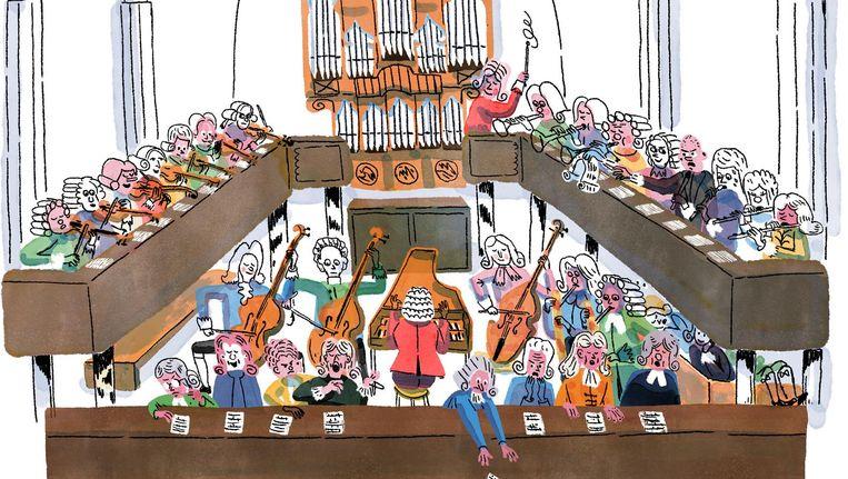 Het orkest van Bach volgens Rens Bijma Beeld null