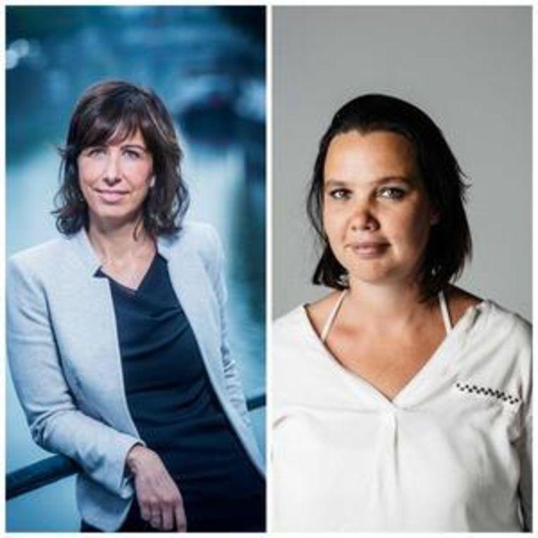 An Goovaerts en Lisbeth Imbo, hoofdredacteuren De Morgen Beeld null