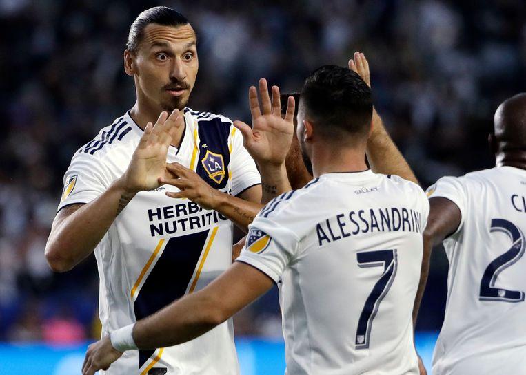 Zlatan Ibrahimovic bracht LA Galaxy na een kwartier op voorsprong.