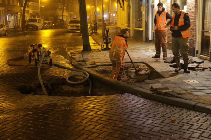 Schade door wateroverlast op de Brink