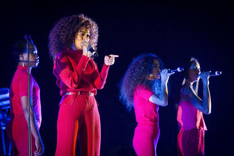20170817 Kiewit België: Pukkelpop 2017, Solange (zus van Beyonce) op de mainstage van PKP. Beeld James Arthur