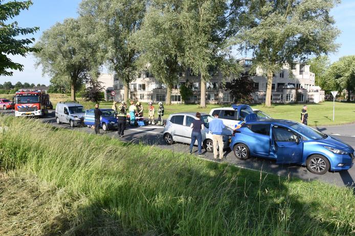 Bij een ongeval in Houten is  één gewonde gevallen.