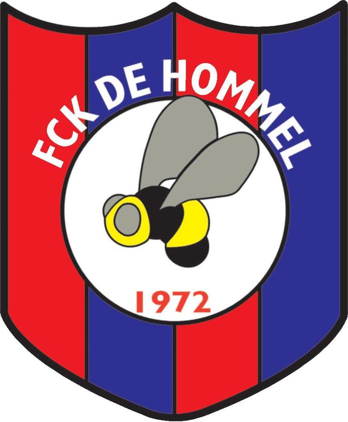 Het logo van FCK De Hommel