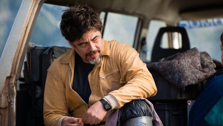 Acteur Benicio del Toro in A Perfect World. Beeld null