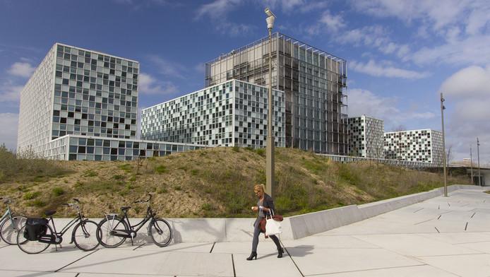 Het nieuwe gebouw van het Internationaal Strafhof aan de Oude Waalsdorperweg.