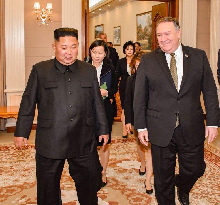 Mike Pompeo heeft Kim Jong-un voor de tweede keer ontmoet in de Noord-Koreaanse hoofdstad Pyongyang.