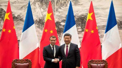"""Macron: """"China gaat 184 Airbus-toestellen bestellen"""""""