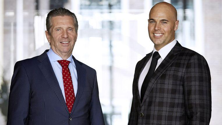 Kamerleden Louis Bontes (R) en Joram van Klaveren. Beeld ANP
