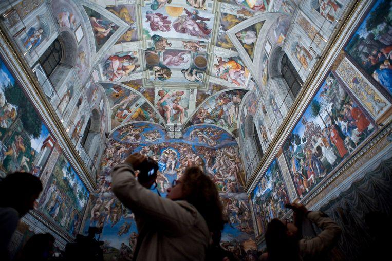 De Sixtijnse Kapel in Vaticaanstad is een van de beroemdste trekpleisters van de wereld.