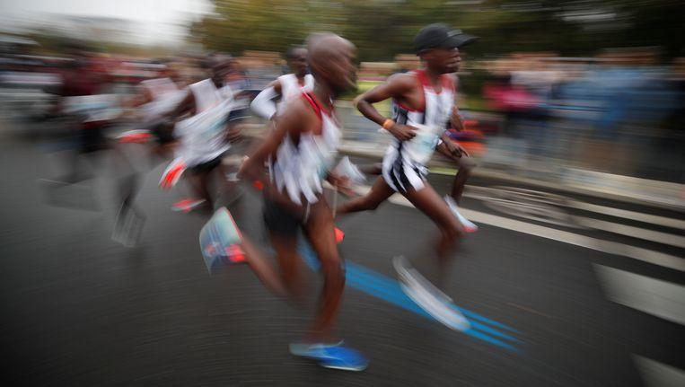 Koplopers tijdens de marathon in Berlijn Beeld reuters