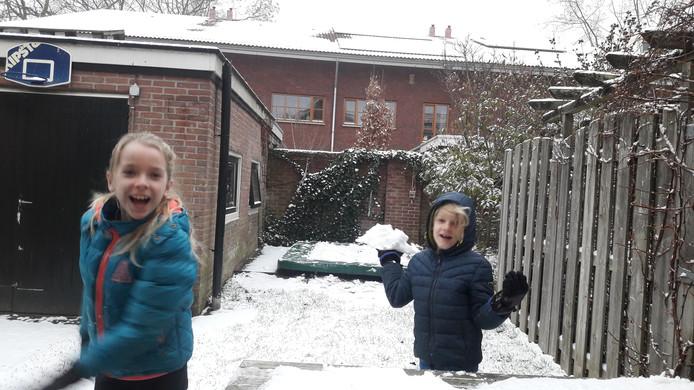 Sneeuwpret in Wageningen