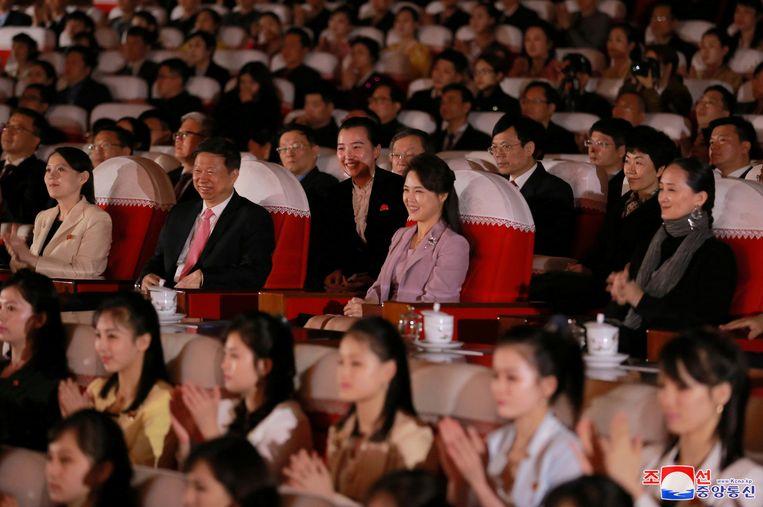Ri Sol-ju tijdens de voorstelling van het Nationaal Ballet van China.
