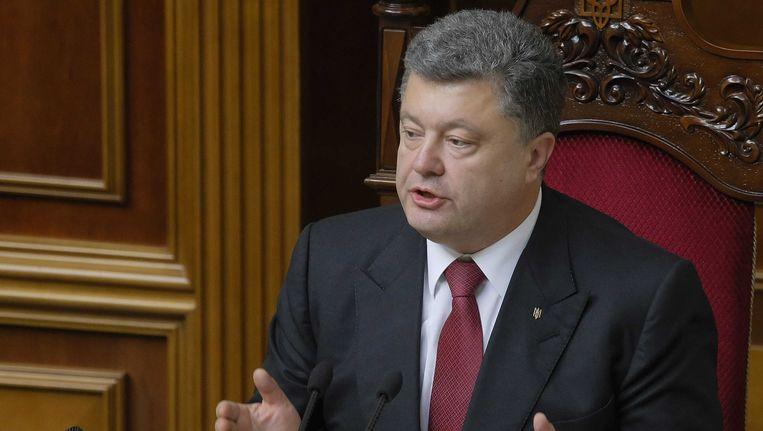 Petro Porosjenko, president van Oekraïne. Beeld EPA
