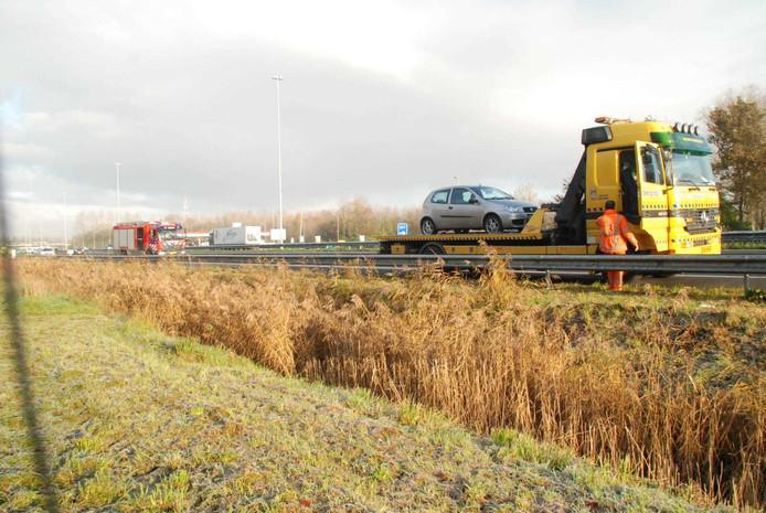 Melding over autobrand op A2 bij Liempde.