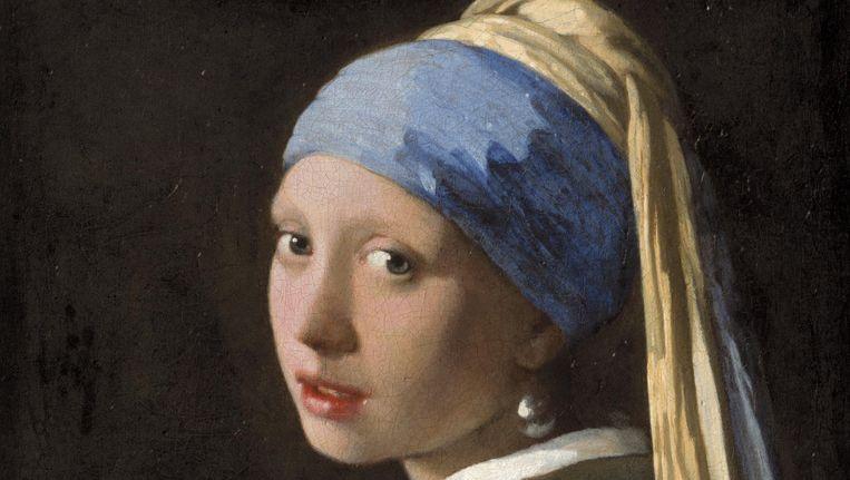 Johannes Vermeer - Meisje met de parel, circa 1665 Mauritshuis, Den Haag Beeld