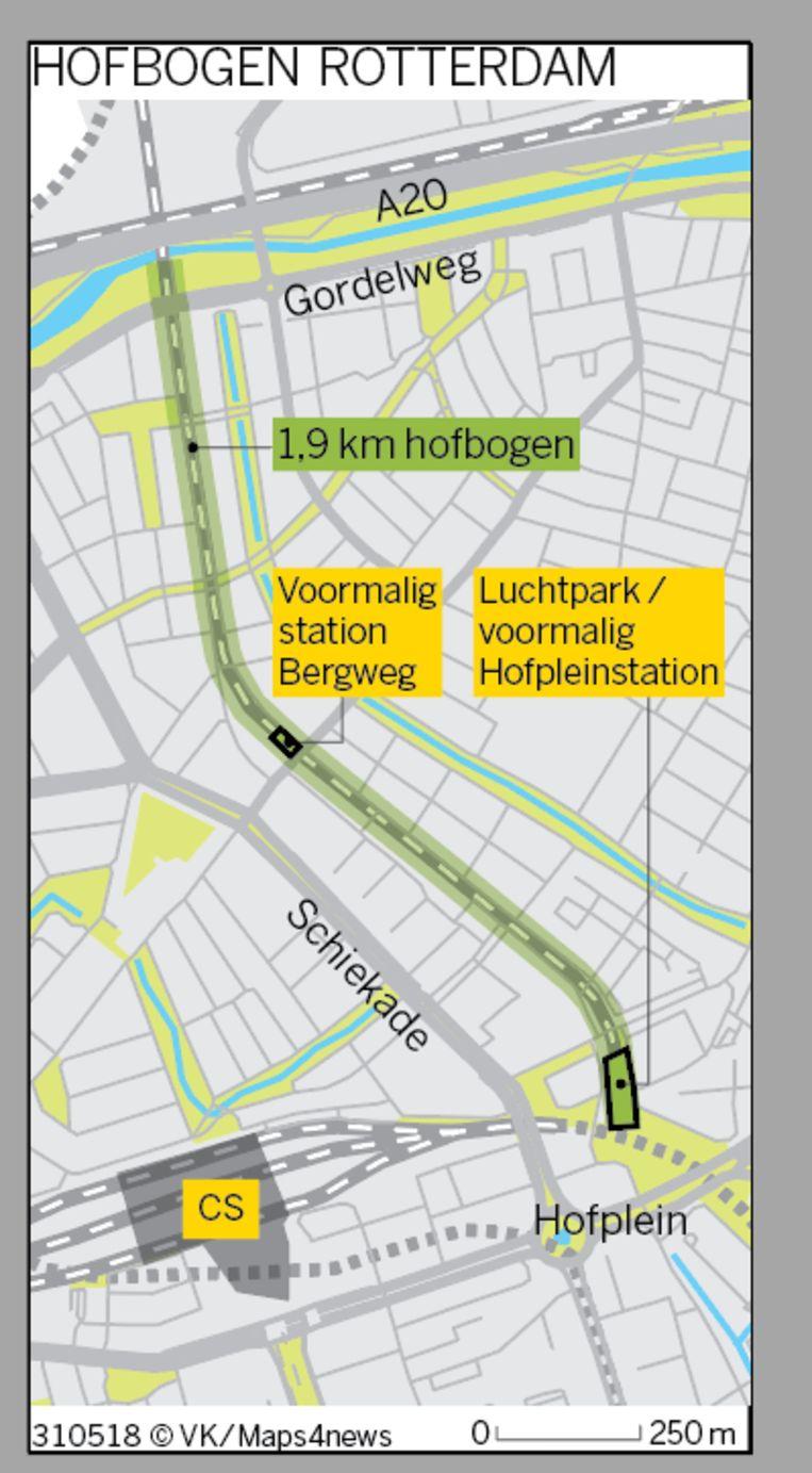 De Hofbogen in Rotterdam. Beeld de Volkskrant