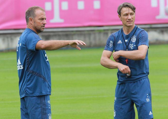 Hansi Flick (l) begon het seizoen bij Bayern als assistent van Niko Kovac (r).