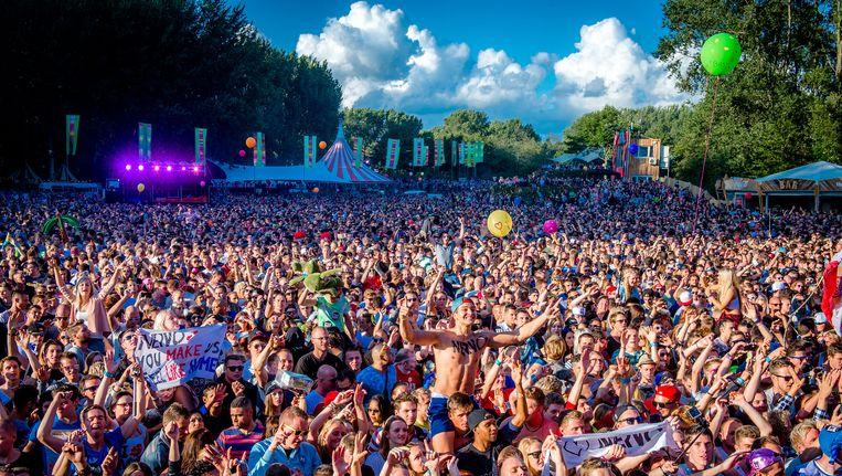 Mysteryland trok 72.000 bezoekers naar het Floriadeterrein in Hoofddorp. Beeld anp