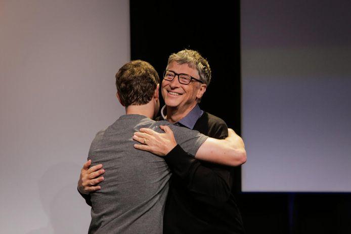 Mark Zuckerbeg, CEO de Facebook, et Bill Gates, fondateur de Microsoft.