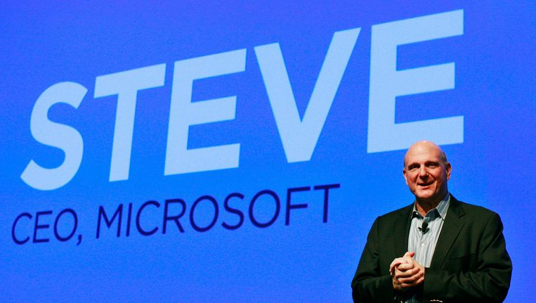 Steve Ballmer, topman van Microsoft. Beeld REUTERS