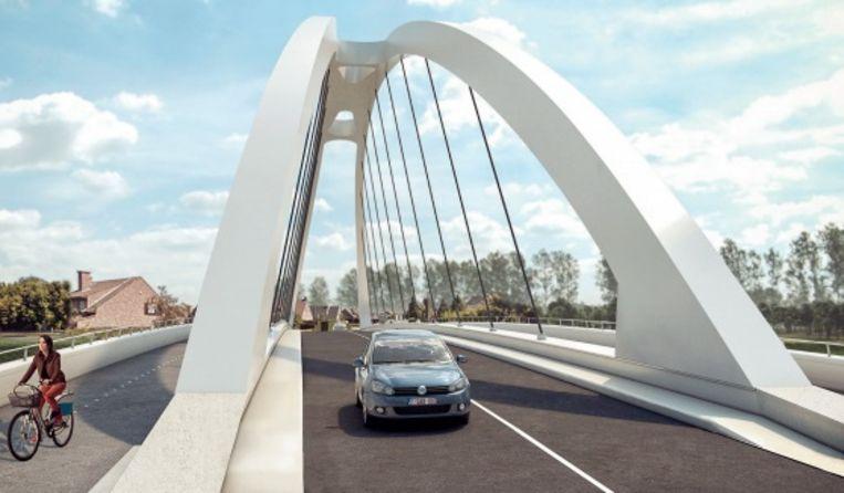 Brug tussen Ooigem en Desselgem wordt vernieuwd. Dit is de nieuwe brug. Even verdrop wordt een tijdelijke fietsbrug aangelegd, en die kwam ter sprake op de gemeenteraad.