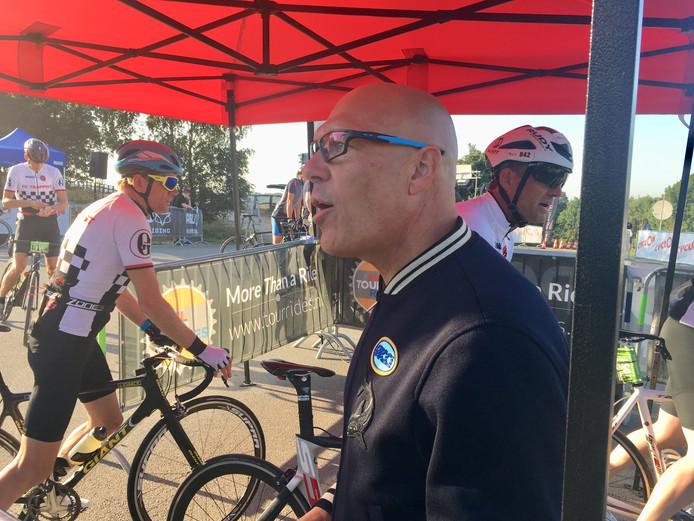 Gert Jacobs bij de start van de Time Trial, nabij Paviljoen De Posbank.