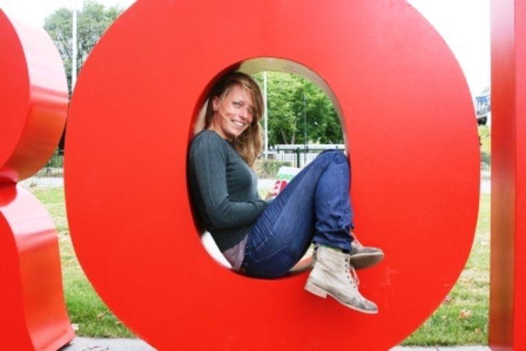 Anne in de O van GroenLinks Beeld Carel Bruring