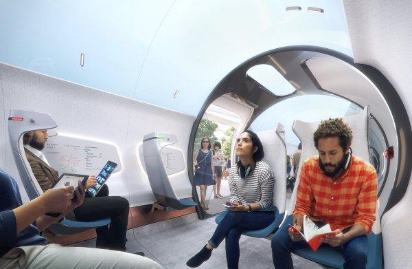 De trein van de toekomst: zwevende capsules die voorbijrazen met een snelheid van 1.100 km per uur